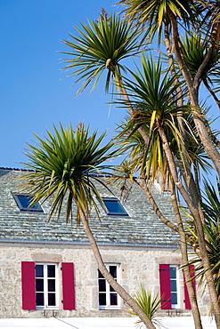 France, Normandy Region, Manche Department, St-Germain des Vaux, building detail