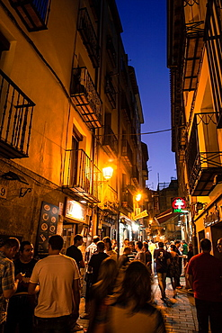 Laurel Street has several bars to make wine and tapas of the region Logrono, Spain, Europe