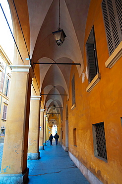 Porticoes the covered footpaths central Modena city Emilia-Romagna region central Italy Europe