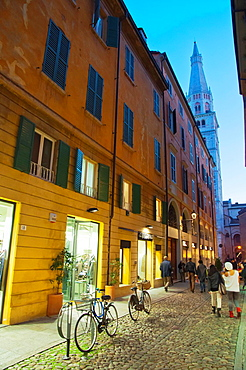 Via Coltellini shopping pedestrian street central Modena city Emilia-Romagna region central Italy Europe