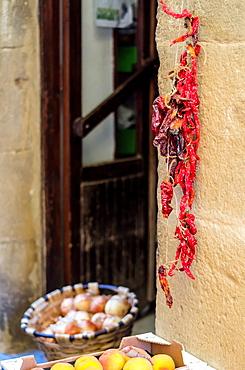 Laguardia facade detail, Laguardia, La Rioja, Spain
