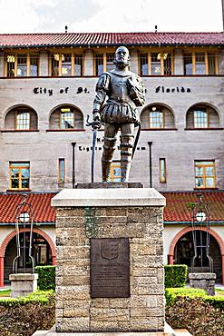 Statue to Don Pedro Menendez de Aviles at the Lightner Museum in St Augustine, Florida Don Pedro Menendez de Aviles is the founder of the city