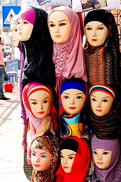 Women clothes shop, Amman, Jordan, Middle East.