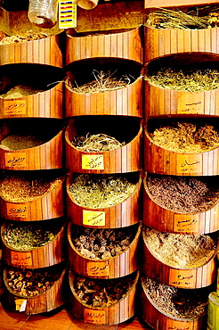 Herbalist shop, Amman, Jordan, Middle East.