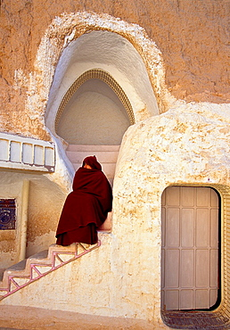 Room in Sidi Drias hotel, location of Star Wars film Matmata Southern Tunisia.
