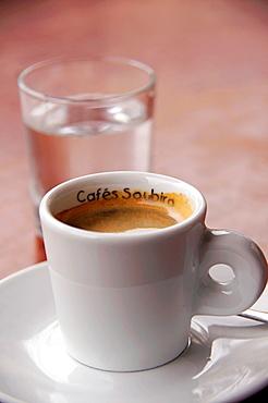 France- Food- 'Cafe noir' short black coffee.