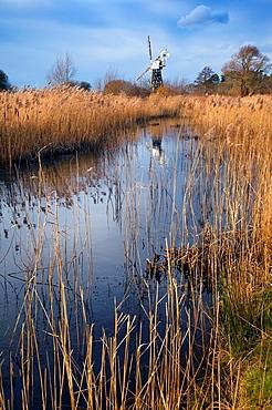Boardmans Windpump How Hill Norfolk on a winters day