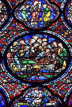 France, Centre Region, Eure et Loir Department, Chartres, Chartres Cathedral, stained glass window