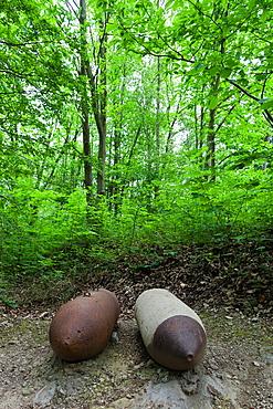France, Nord-Pas de Calais Region, Pas de Calais Department, Eperlecques, Le Blockhaus de Eperlecques, World War Two German V2 rocket bunker, bombs