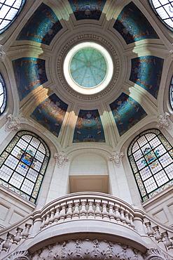 France, Nord-Pas de Calais Region, Nord Department, French Flanders Area, Lille, Palais des Beaux-Arts, art museum, ceiling detail