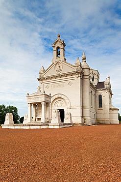 France, Nord-Pas de Calais Region, Pas de Calais Department, Souchez, Notre Dame de Lorette, World War One French War Memorial, chapel exterior