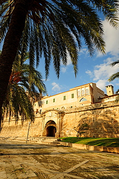 Modern Portella, built within the last Renaissance fortified enclosure Palma de Mallorca, dating back to 1785, palm, mallorca, Balearic Islands, Spain, Europe
