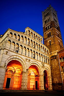 Cathedral of San Martino in Lucca, Tuscany, Italy