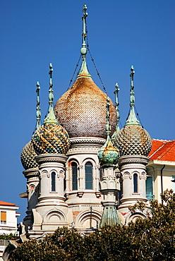 Orthodox russian church in San Remo, Imperia, Liguria, Italy