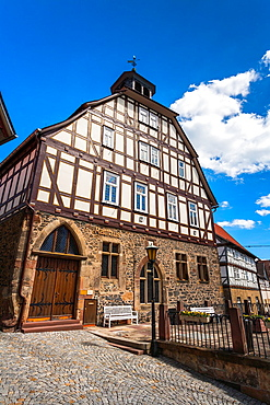 City hall in Homberg Efze on the German Fairy Tale Route, Hesse, Germany, Europe