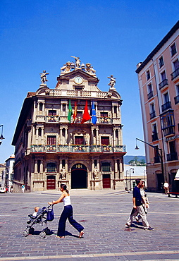 City hall. Pamplona, Navarra, Spain.