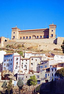 Calatravos castle. Alcaniz, Teruel province, Aragon, Spain.