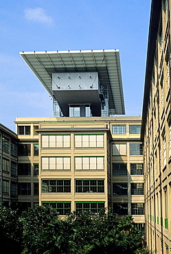 Le Meridien hotel housed in the Lingotto building, that was an automobile factory built by Fiat, converted into a multi-purpose centre by the architect Renzo Piano, Turin, Piedmont region, Italy, Europe