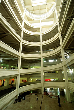 helical access ramp to the roof of the Lingotto building that was an automobile factory built by Fiat, Turin, Piedmont region, Italy, Europe