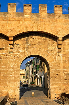 Porta de San Sebastaia. Alcudia. Majorca island. Spain