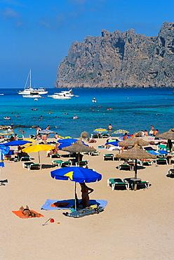 San Vicente beach. Majorca island. Spain