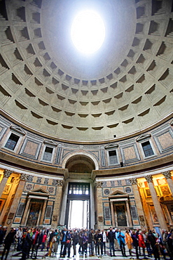 Interior of the Pantheon's dome, Rome, Italy