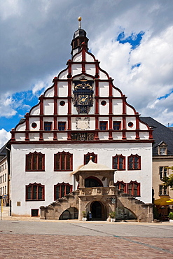 Old guildhall at old marketplace Plauen, Vogtland, Saxony, Germany, Europe