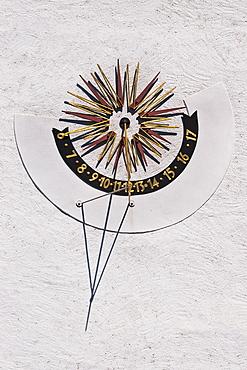 sundial at Meissen guildhall, Meissen, Saxony, Germany, Europe