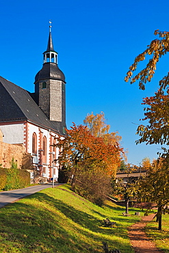 Protestant Lutheran St. Peter's Church, oldest church of Rochlitz, Saxony, Germany, Europe