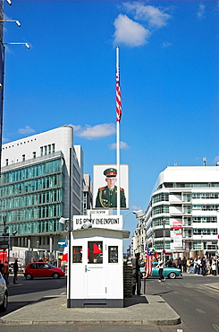 Soviet solder displayed at Checkpoint Charlie, Berlin Germany