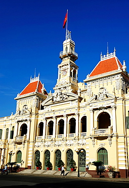 The Saigon Town Hall,officially known as the 'Ho Chi Minh City People's Committee Building' in Ho Chi Minh City,Vietnam
