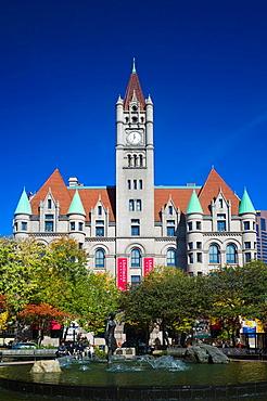 USA, Minnesota, Minneapolis, St  Paul, Landmark Center, former Federal Court Building, built in 1902