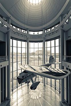 USA, Oklahoma, Oklahoma City, Oklahoma History Center, world record aircraft Winnie Mae, Wiley Post, pilot