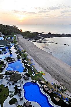 swimming pool by the beach of the Westin Playa Bonita hotel, Panama City, Republic of Panama, Central America