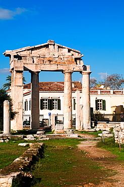 Greece, Athens, The Roman Agora Gate of Athena Archegetis  The entrance to the Agora