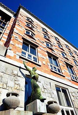 National and University Library, detail, Ljubljana, Slovenia