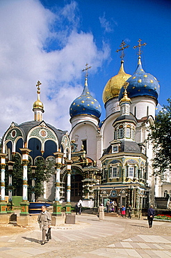 Chapel-over-the Well (1872) by Assumption Cathedral (1559-1585), Holy Trinity-St, Sergius Lavra (monastery), Sergiyev Posad, Golden Ring, Russia