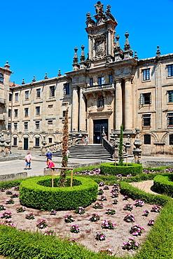 Mosteiro de San Martino Pinario, Praza da Inmaculada, Santiago de Compostela, A Coruna province, Galicia, Spain.