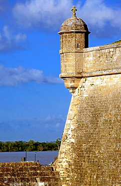Citadel fort (1689) built by Vauban on the Gironde estuary, Blaye, Gironde, Aquitaine, France