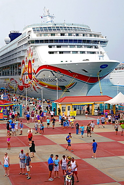 Cruise Ships in Port Philipsburg St Martin Maarten Caribbean Island Netherland Antilles