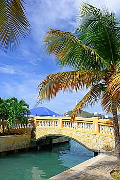 Philipsburg Pedestrian Bridge St Martin Maarten Caribbean Island Netherland Antilles