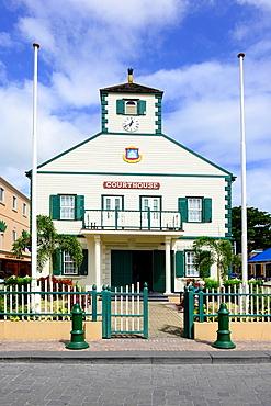 Courthouse Philipsburg St Martin Maarten Caribbean Island Netherland Antilles