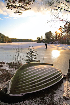 Skating at Lake Flaten Katrineholm Sweden.