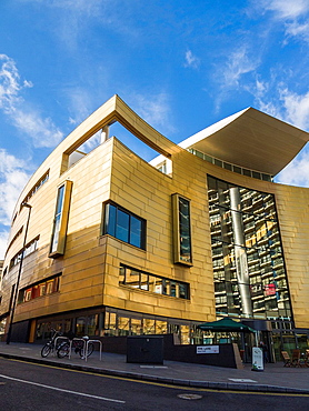 The new Colston Hall foyer, completed in 2009, in Bristol city centre, England