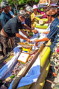 Asia, South-East Asia, Indonesia, Bali. Ritual of cremation ceremony.