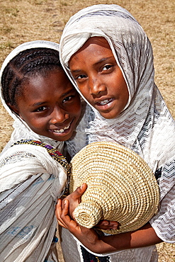 Local Girls Celebrating Timkat The Festival of Epiphany, Gondar, Ethiopia