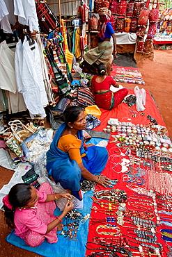 Market Scene, Anjuna Beach Market, Goa, India