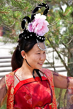 Young Woman Dressed in Traditional Costume, Xi'an, China