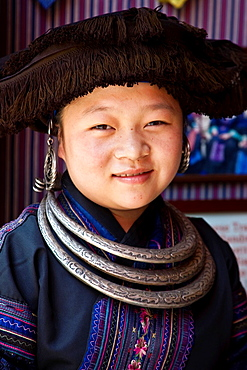 Minority Hill Tribe Girl, Yangshuo, China