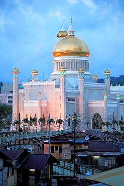 Brunei, Bandar Seri Begawan, Kampong Ayer, water village, Omar Ali Saifuddien Mosque,